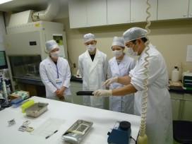 食肉衛生検査所でのBSE検査